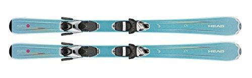 HEAD Kids Junior Girls ski Joy with Matching System adjsutable Size bindings Pair New 2018 Model (127cm)
