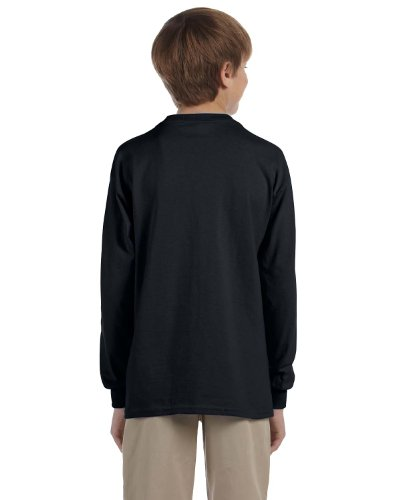 Jerzees Youth Heavyweight Blend Long-Sleeve T-Shirt, Blk, Small (Blend Heavyweight Youth Jerzees)
