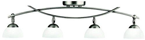Kichler 42164AP Bellamy Rail Light 4-Light Halogen, Antique - 4 Rail Flush Light