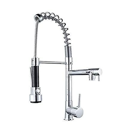 Hotsung Contemporary Kitchen Sink Faucet Single Handle Stainless