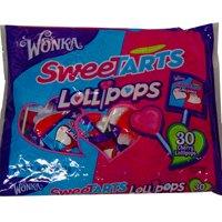Sweetart Wonka Cherry Lollipops 2-30 Packs (60 (Sweet N Tart)