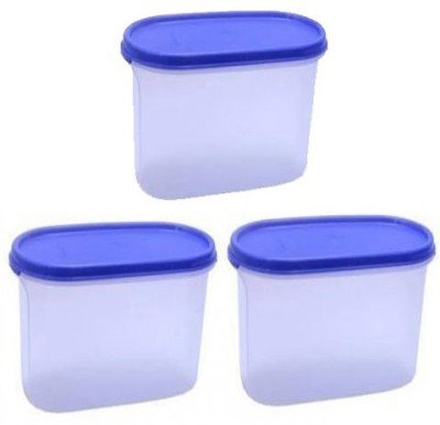 Tupperware   1700 ml Plastic Food Storage Pack of 3, Blue, White