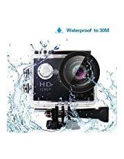 Yuntab W9 Action WIFI Caméra, angle de 170 °, Full HD 1080P HDMI TV Port 30M étanche, enregistreur vidéo numérique parfait de 12 mégapixels pour sports extrêmes, Noir