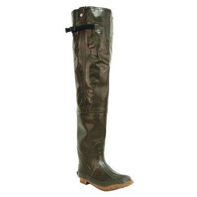 Itasca Men's Waterproof Hip Wader with Adjustable Side Strap Over The Knee Boot, Dark Green, 13 D US