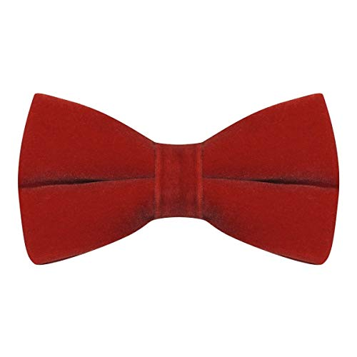 Luxury Rosso Red Velvet Bow Tie
