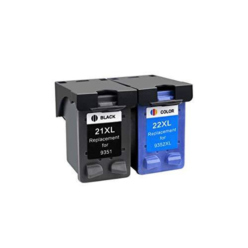 RUI JI BTF 21 22 21XL 22XL Cartucho de Tinta Compatible para HP1402 1406 1408 1410 1360 1460 2360 2460 3920 3940 F370 F380...