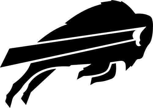 ANGDEST BUFFALO BILLS LOGO (BLACK) Waterproof Vinyl Decal Stickers Laptop Phone Helmet Car Window Bumper Mug Tuber Cup Door Wall Decoration - Helmet Logo Decals