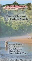 Fly Fishing Tennessee Map.Clinch River Map Clinton Tennessee Chris Gibbs Amazon Com Books