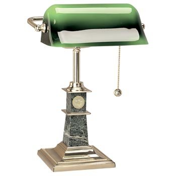 Syracuse University - Solid Brass Bankers Lamp by Alumni Gift