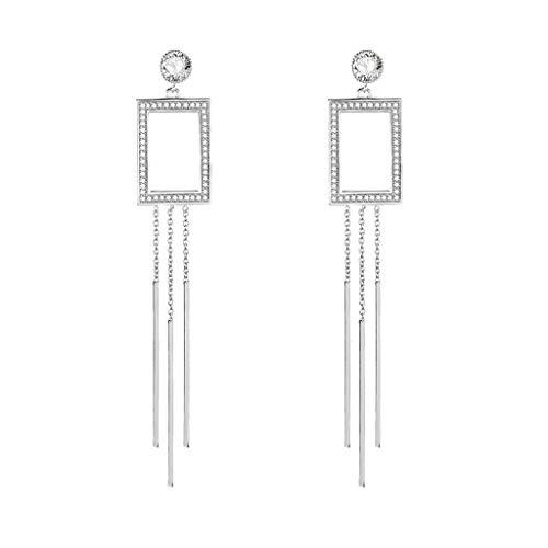 (Jocund Women Fashion Elegant Long Chain Creative European and American Long Earrings Wild Ladies Fashion Jewelry)