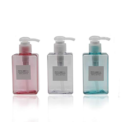 Kimdio Lotion Dispenser Bottle Travel Containers 5oz/150ml 3 Pack Countertop Lotion Clear Liquids Hand Soap Dispenser BPA Free Pump Cosmetic Bottles for Essential Oils,Kitchen,Bathroom-Light Color