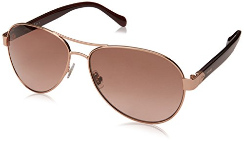 Fossil Women's Fos 3079/s Aviator Sunglasses, RED GOLD, 60 mm