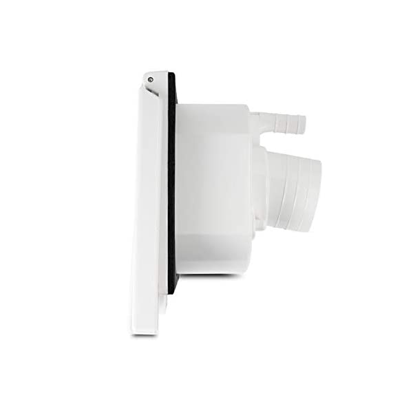 31LBuIdEqOL Wasseranschlussdose   abschließbar   weiß   inkl Dichtung & Schrauben   40mm