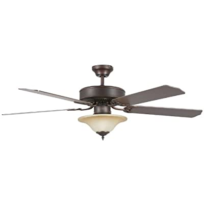 Concord Fans Heritage Square Ceiling Fan with Bowl Light Kit