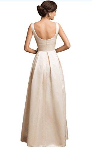 Angela Femmes Satin Une Longue Ligne Robes De Soirée Formelle De Robe De Bal Blanc