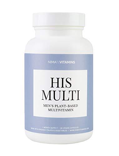 Organic Multivitamin for Men - Vegan Wholefood Vitamins, Organic and Vegan B12, Iron, and Calcium - 1 Month Supply (60 Capsules)