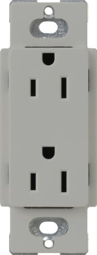 Lutron CAR-15-Gray Claro 15-Amp Receptacle, - Plug Gray