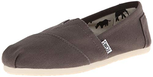 TOMS Women's Classic Canvas Slip-On,Ash,5.5 M US