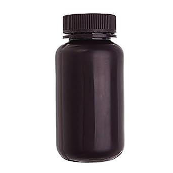 EsportsMJJ 250Ml Pp Plástico Marrón Botella Boca Ancha Laboratorio Muestra Reactivo Químicos Botella De Almacenamiento