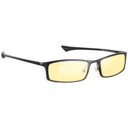 Phenom computer gaming glasses - block blue light, Anti-glare and minimize digital eye strain - Perform better, target objects on screen easier, prevent headaches, sleep better, reduce eye fatigue by Gunnar Optiks