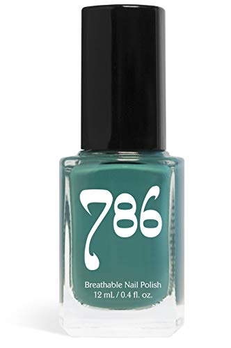 786 Cosmetics Lagos - (Teal) Vegan Nail Polish, Cruelty-Free, 11-Free, Halal Nail Polish, Fast-Drying Nail Polish, Best Teal Nail Polish