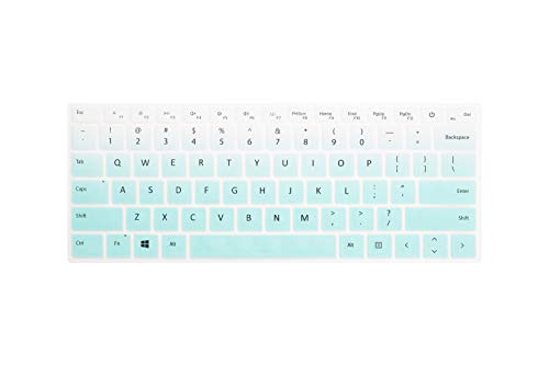 Leze - Ultra Thin Keyboard Skin Cover for Microsoft Surface Book 2 13.5,Surface Book 2 15,Surface Laptop - Gradual Mint