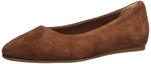 Aquatalia Women's Cierra Dress Suede Ballet Flat, Caramel, 7 M US