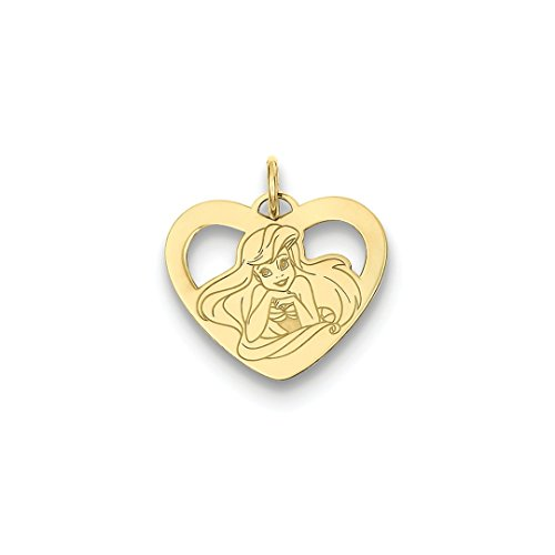 ICE CARATS 14kt Yellow Gold Disney Ariel Heart Pendant Charm Necklace Licensed Fine Jewelry Ideal Gifts For Women Gift Set From Heart 14kt Gold Disney Jewelry