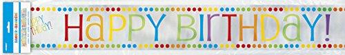 12ft Foil Rainbow Birthday -