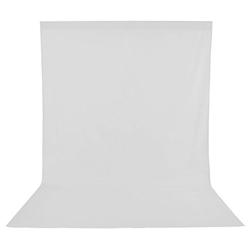 UTEBIT White Backdrop 1.8 x 2.8 Meter / 6 x 9 Feet 1KG Weight Extra Thick Muslin Calico PhotoBooth Background Screen Seamless Plain Backdrops Cloth for Photo Video and Television