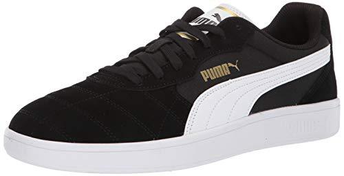 (PUMA Men's Astro Kick Sneaker, Black-White-teamgold, 8.5 M US)