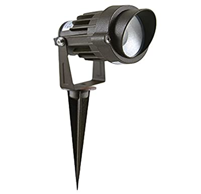 Westgate 5W LED Landscape Light, W/ COB Technology & Smooth Aluminum Reflector, Spike Stand Included, 12V AC/DC Suitable for Wet Locations, 7 Year Warranty