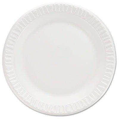 Non Laminated Foam Dinnerware (DCC 7PWCR Non-Laminated Foam Dinnerware, Plates, 7quot;Diameter, White,125/Pack,8/Carton)
