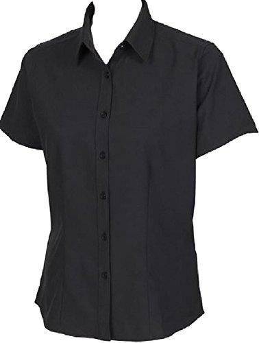 New Henbury para mujer transpirable de secado rápido Anti-Bacterial Formal Manga Corta negro