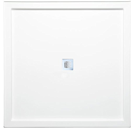 "Americh S4848DT-WH Shower Base with Square Drain, 48"" x 48"", White"