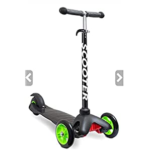 Scooters for Kids Toddler Scooter – Deluxe Aluminum 3 Wheel Glider w/ Kick n Go, Lean 2 Turn Wheels, Step 4 Brake, Toddlers Training Three Wheeled Kid Ride on Toys Best for Little Boys & Girls – Black