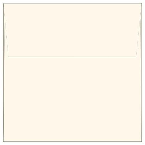 "100 Off White Ivory Square Envelopes - 5.5"" x 5.5"" - Square Flap"