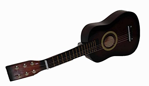 New Mini Childrens Toy 23'' Acoustic Guitar with Pick & Extra Strings - Coffee by Bridgecraft