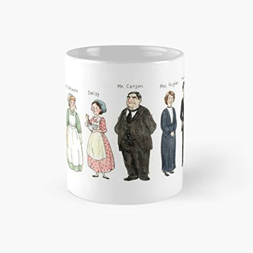 Downton-downstairs Mug, downton Cup, 11 Ounce Ceramic Mug, Perfect Novelty Gift Mug, Funny Gift Mugs, Funny Coffee Mug 11oz, Tea Cups 11oz (Made England Tea Cup Daisy)