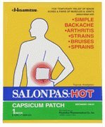 Salonpas Pain Relieving Patch - Hot 50 Pack Box of Large Size (5.12 x 7.09 in) by HISAMITSU AMERICA INC
