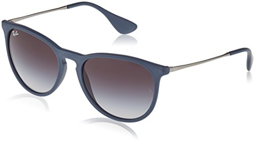 Ray-Ban ERIKA - RUBBER BLUE Frame GREY GRADIENT Lenses 54mm - Aviators Ray Frame Ban Blue