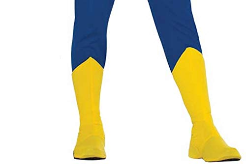 Forum Adult Yellow Super Hero Boot Tops L Fits Up to Calf Size 16