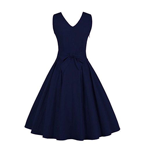 Women Dress Godathe Women Deep V Neck Vintage Gown Sleeveless Party Prom Swing Dress M-4XL at Amazon Womens Clothing store: