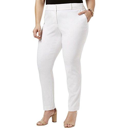 Size Jeans Kors Plus Michael (MICHAEL Michael Kors Womens Plus Miranda Woven Dressy Ankle Pants White 18W)