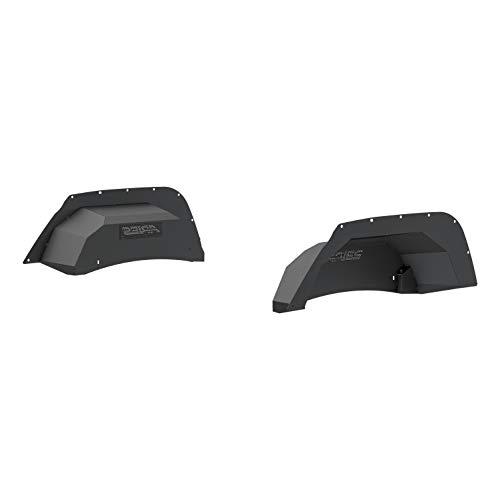ARIES 2500350 Black Aluminum Rear Jeep Wrangler JK Inner Fender Liner Wheel Well Guard Covers