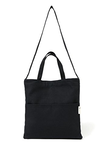 Canvas Tote Bag Handbag Shoulder Bag Or Crossbody Bags Purses For Men And Women (Black 2)