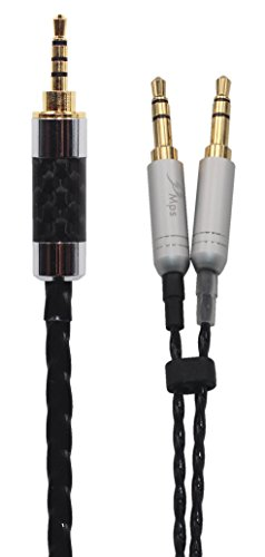 KK Cable GX-7 Compatible Upgrade Audio Cable Replacement for Earphone Cable Beyerdynamic T1 II, T5 Headphone. 2.5mm Trrs Balanced Male to Dual 3.5mm Connector cable. GX-7 (4.9ft (1.5M)) by KK Cable