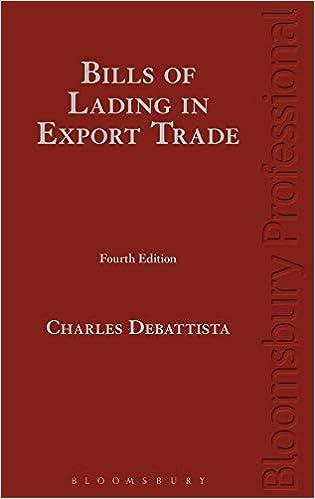 Debattista on Bills of Lading in Commodities Trade: (Fourth ...