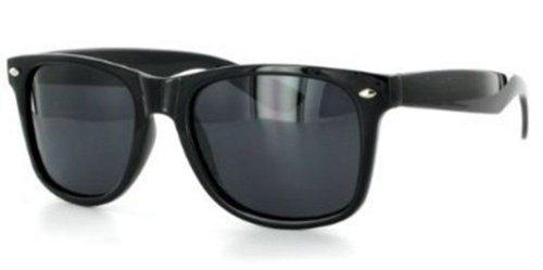 80's Style Vintage Wayfarer Style Sunglasses Black Edition