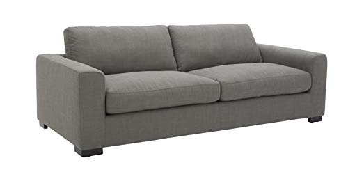Amazon Brand – Stone & Beam Westview Extra-Deep Down-Filled Sofa Couch, 89″W, Smoke
